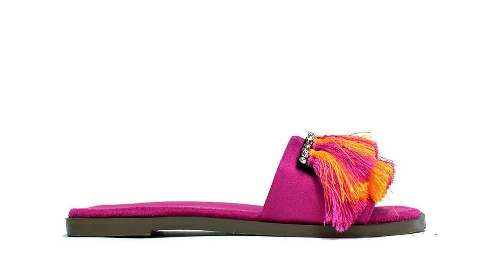 Hot Soles London Faux Fur Sliders Pink