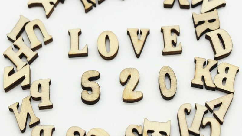 208pcs 8set 26 English  Alphabet Letters Wood Number