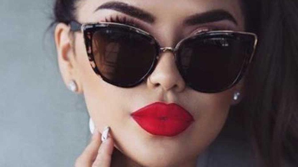 DCM Cateye Sunglasses Women Vintage Gradient Glasses