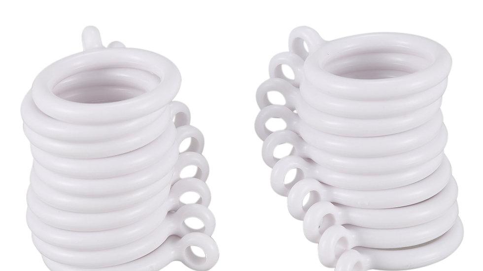 Hot Sale 20X White 25Mm Inner Plastic Curtain Rings