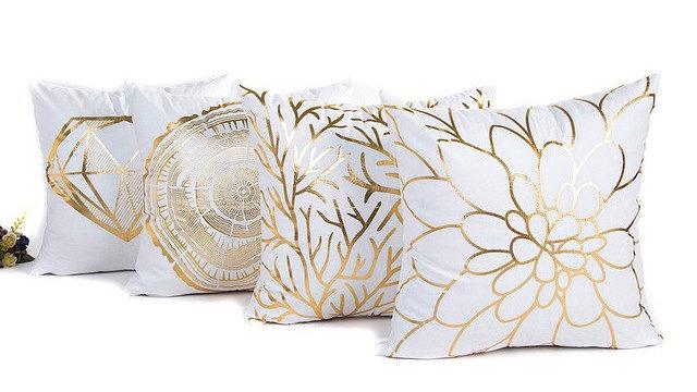 45cm*45cm Square Gold Foil Printing Pillow Case