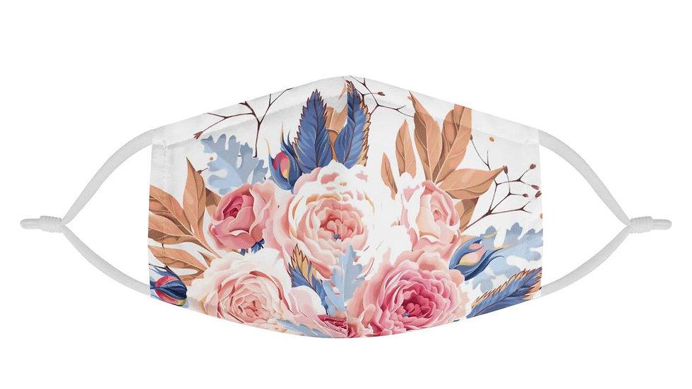 Floral Lady | 100% Soft Pima Cotton Triple Layer Face Mask