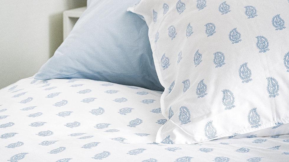 100% Supima Cotton, 500 Thread Count Sateen Paisley Print Sheet Set