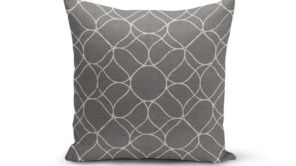 Grey Trellis Pillow Cover