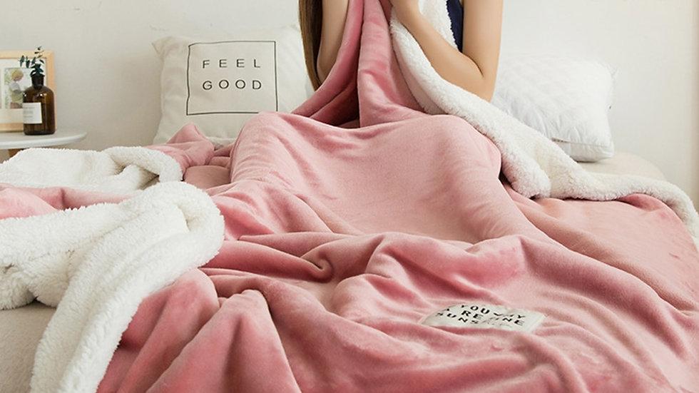 Flannel Blanket Winter Double Lamb Cashmere