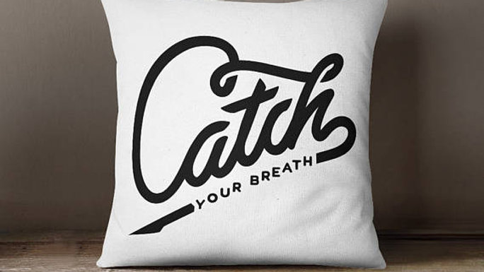 Catch Inspirational Throw Pillow Cover Cushion