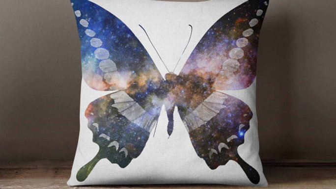 Butterfly Universe Space Galaxy Pillowcase |