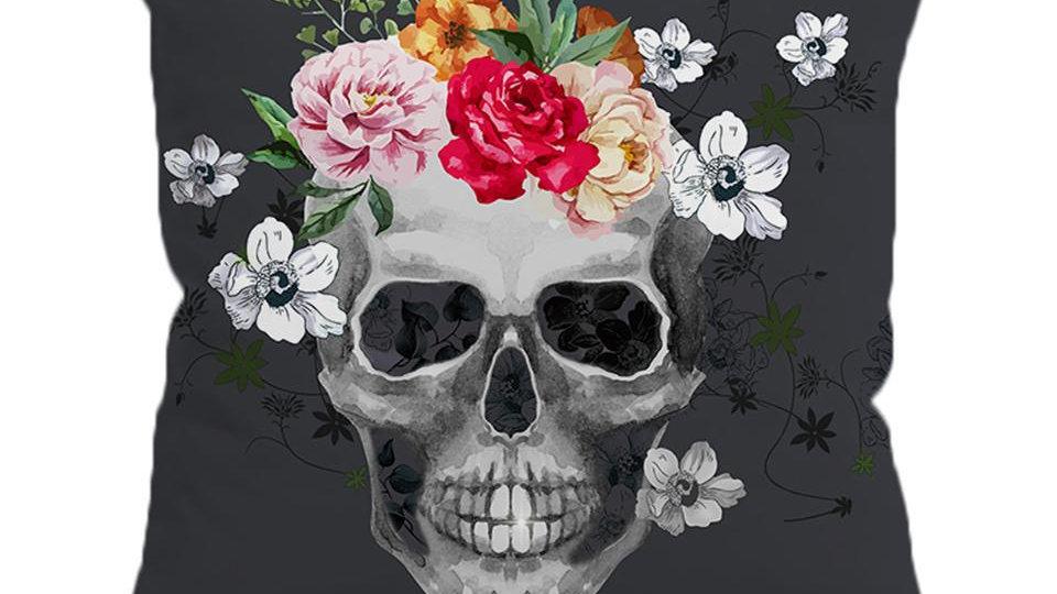 Sugar Skull Cushion Cover Floral Pillow Case Throw