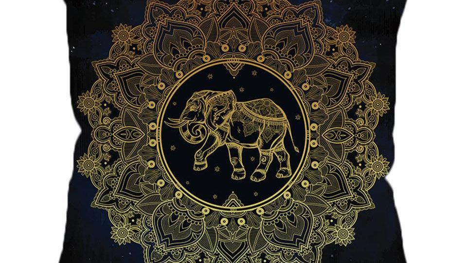 Tribal Elephant Cushion Cover Mandala Pillowcase