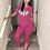 Thumbnail: Plus Size Pink  Two Piece Set Matching Sets