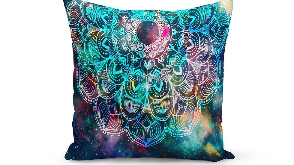 Rainbow Mandala Pillow Cover