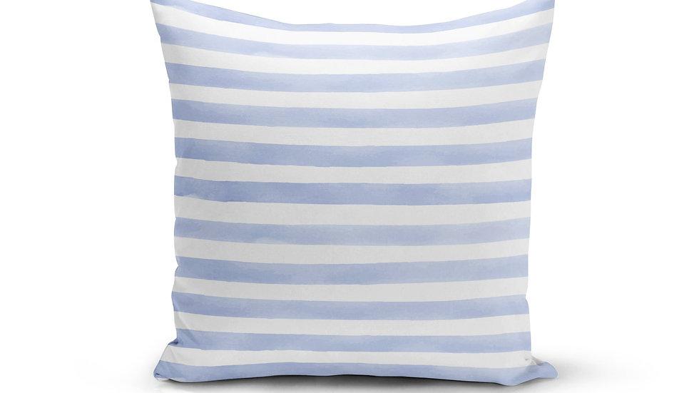 Light Blue Stripes Pillow Cover