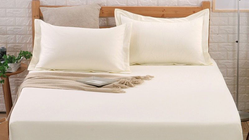 OLOEY 100% Cotton Sheets Bed Fitted Sheet Mattress Cover