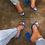 Thumbnail: Transparent Sandals Ladies High Heel Slippers