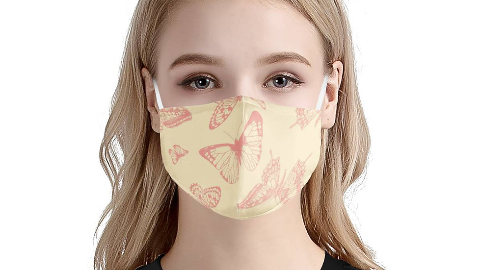 Butterfly Garden | 100% Soft Pima Cotton Triple Layer Face Mask