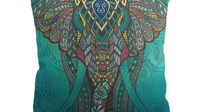 Super Soft 45*45cm Printed Elephant Bohemia Pillow