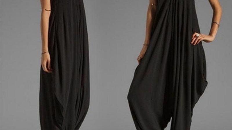 Sleeveless Deep v Neck Jumpsuit Plus Size