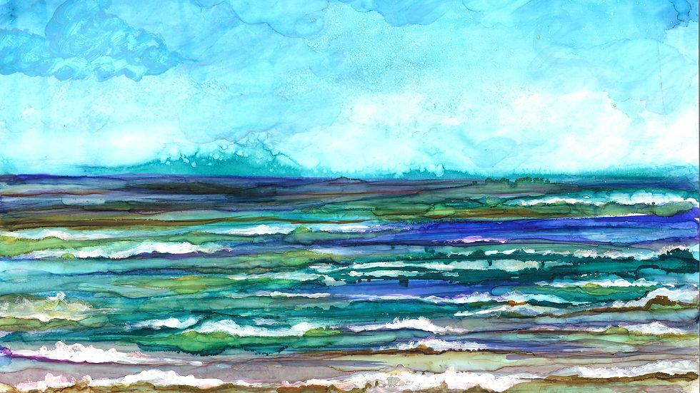 Ocean Breeze : Greeting Card