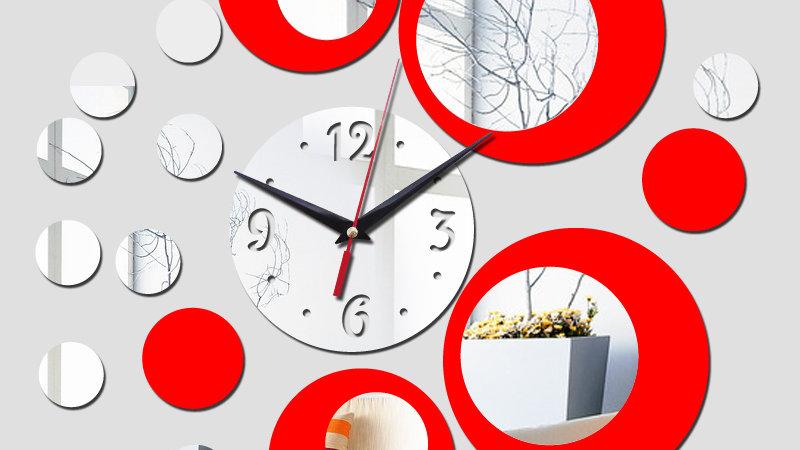 Silver Big Quartz Acrylic Wall Clock Mode Design Luxury 3d Mirror Clocks Watch