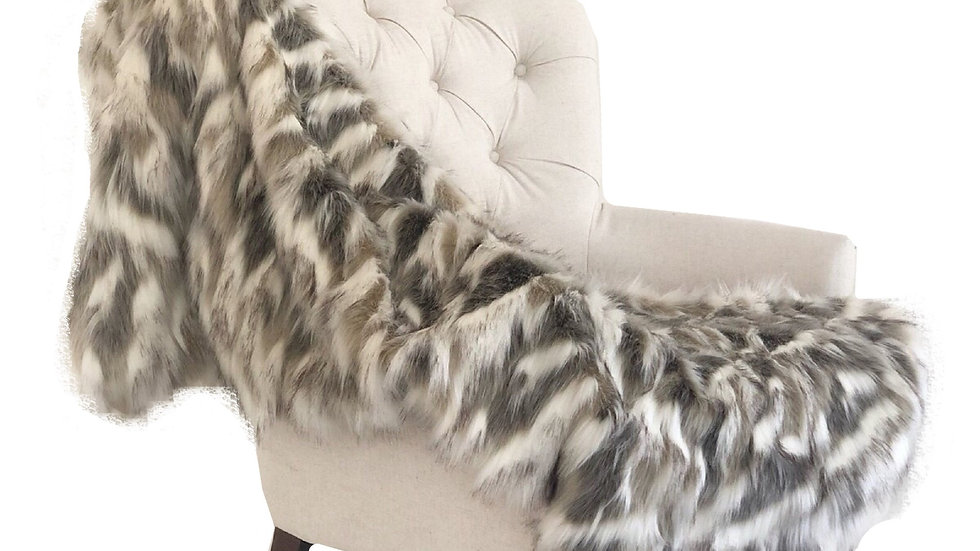 Tibet Faux Fox Handmade Luxury Throw