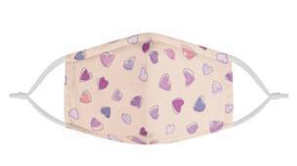 Lovey Dovey Hearts | 100% Soft Pima Cotton Triple Layer Face Mask