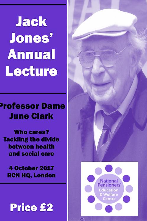 Jack Jones Lecture 2017