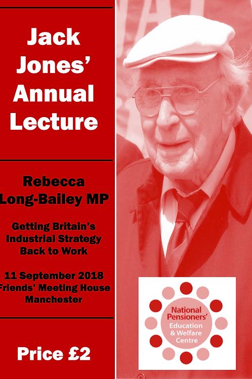 Jack Jones Lecture 2018