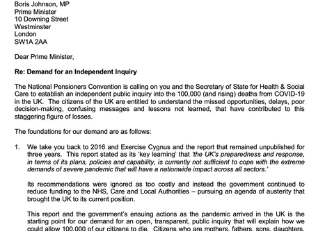 NPC calls for independent public inquiry into the 100,000+ deaths from COVID-19 in the UK