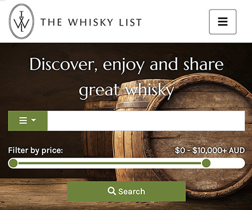 The Whisky List goes live!