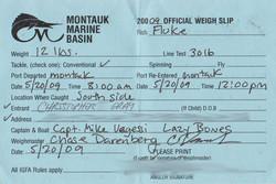 12lb fluke Official Weigh Slip