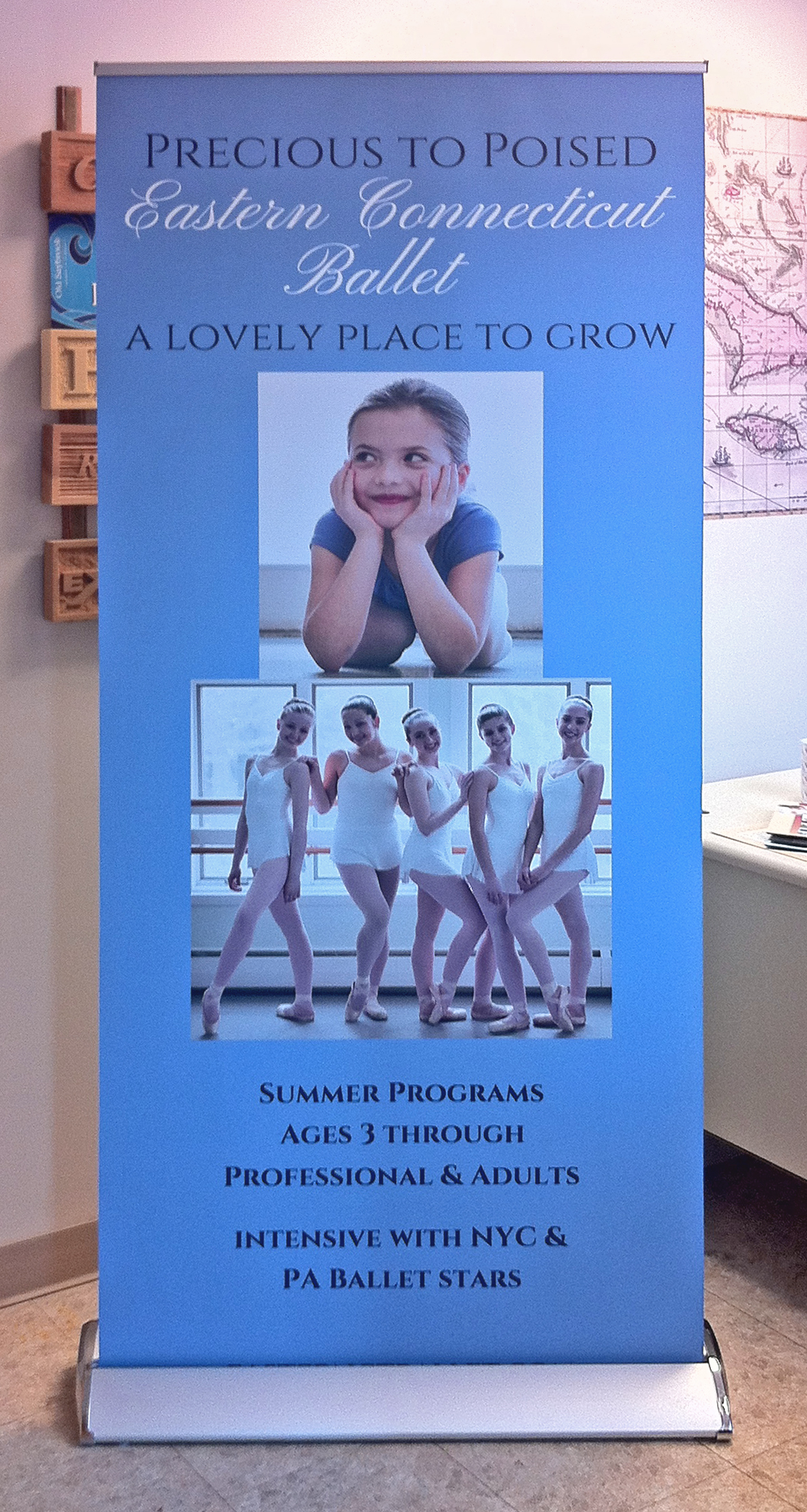 Eastern CT Ballet Banner Stand (2)