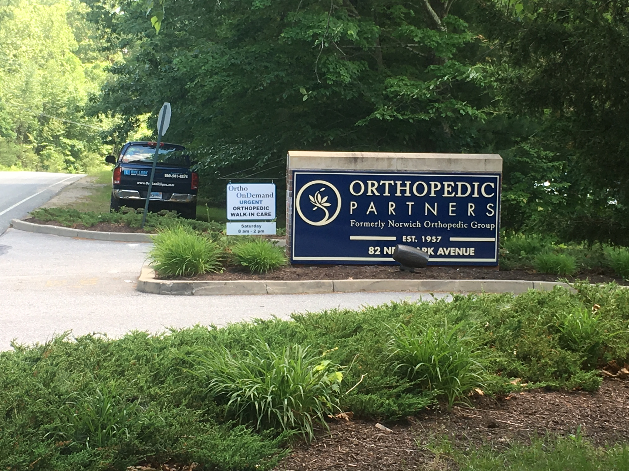 Ortho Partners monument sign