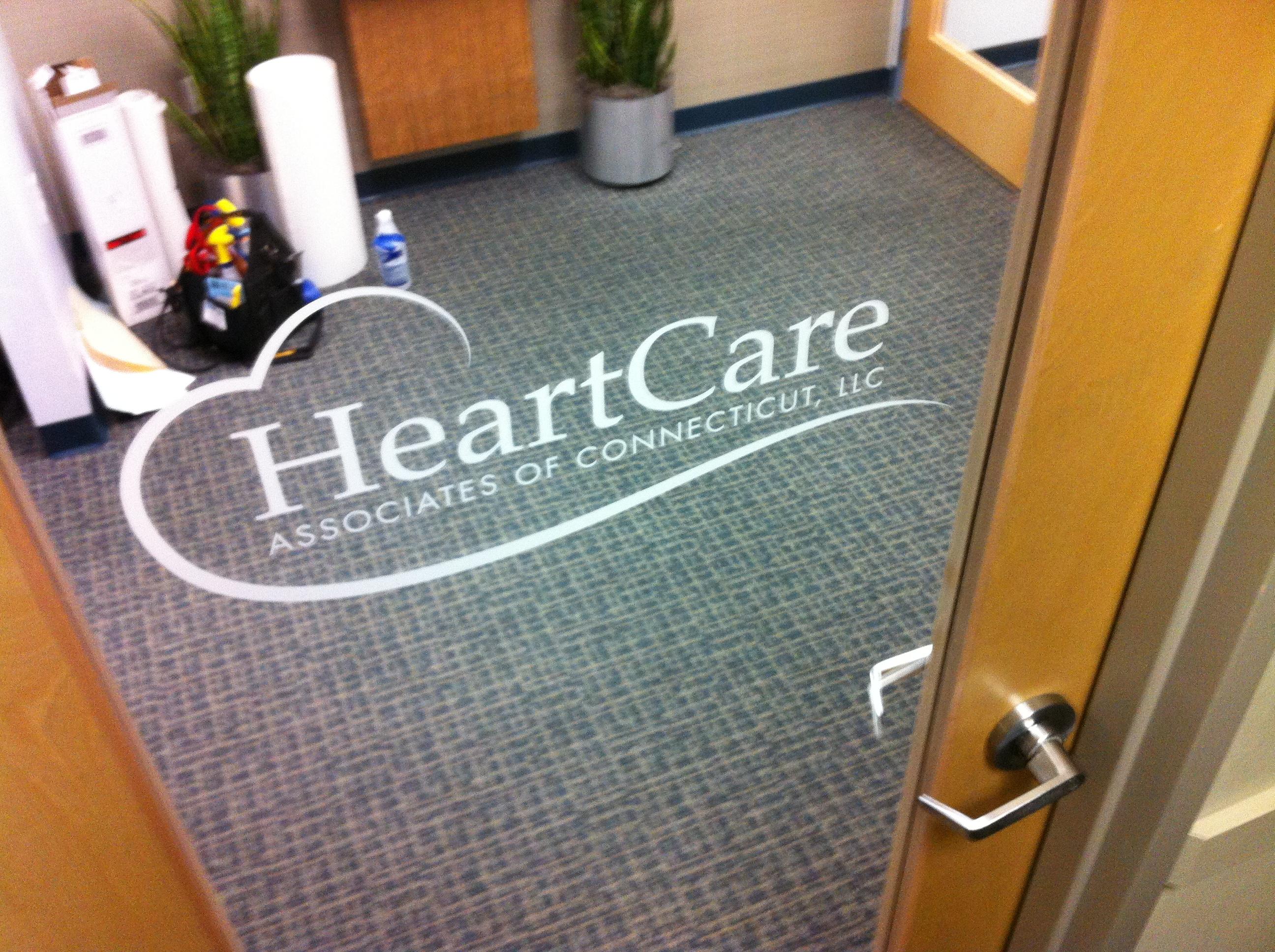 heart care door logo
