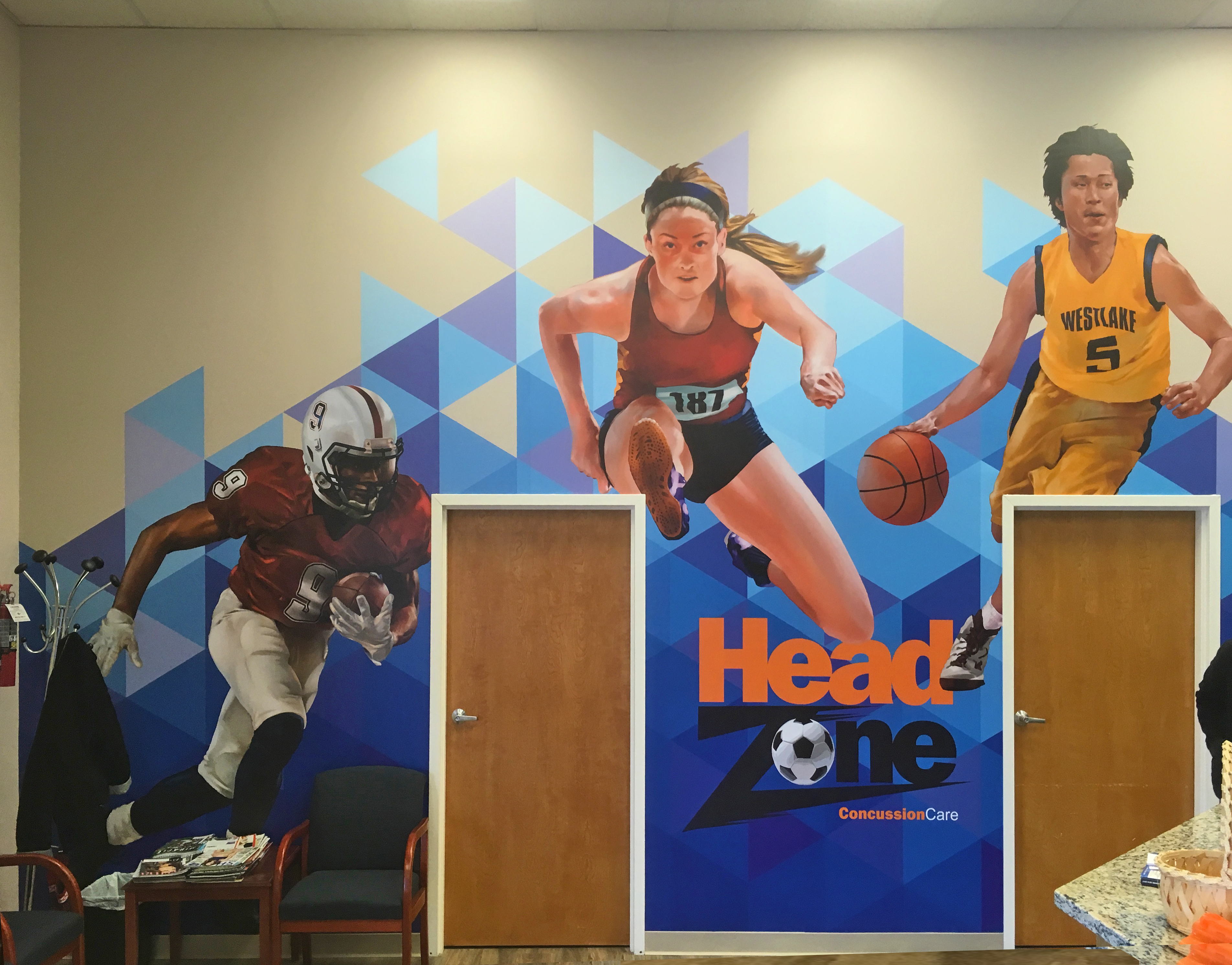 Headzone wall mural