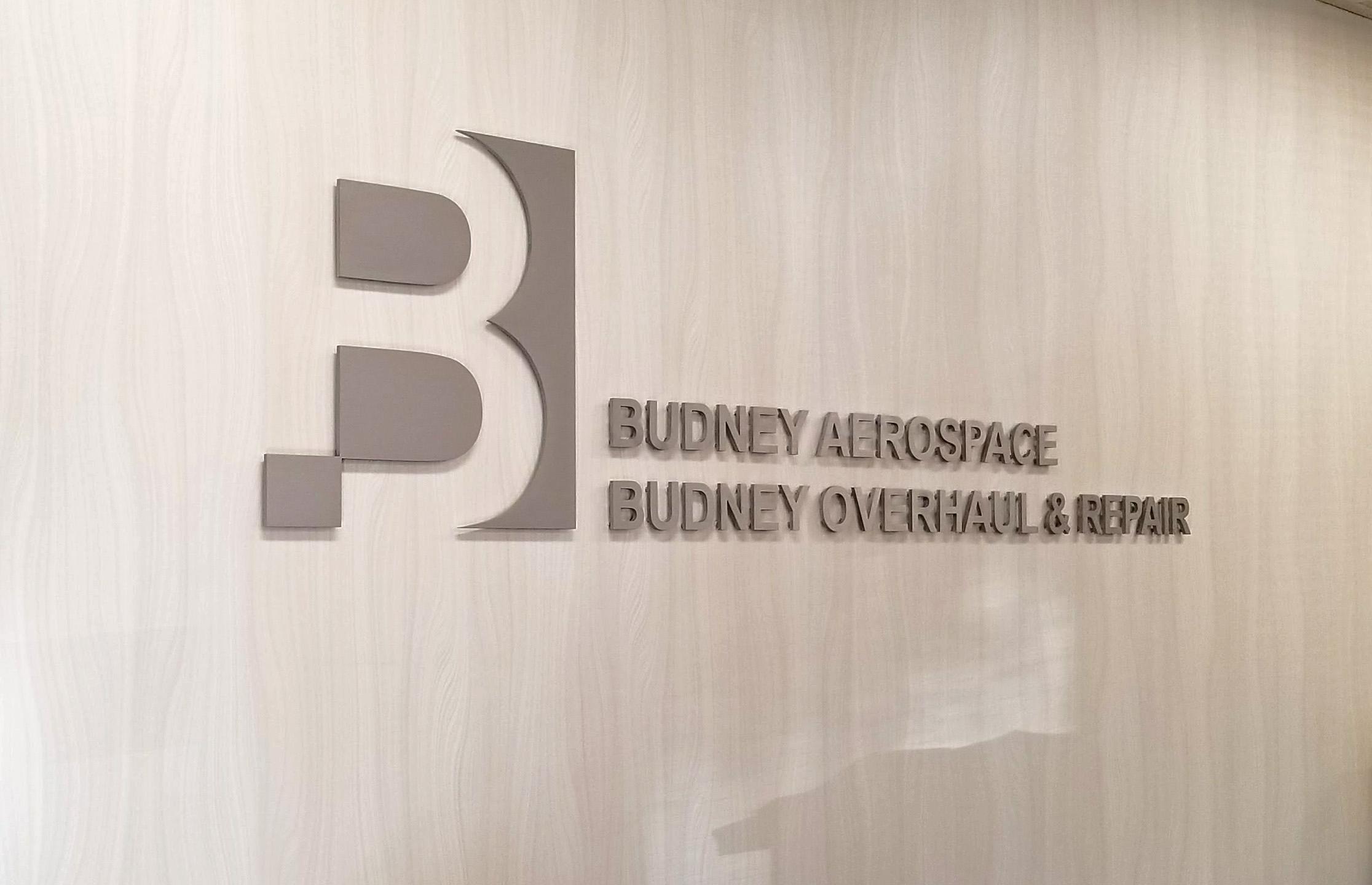 Budney Aerospace lobby sign (2)