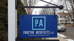 Proctor Architects hanging sign (4)