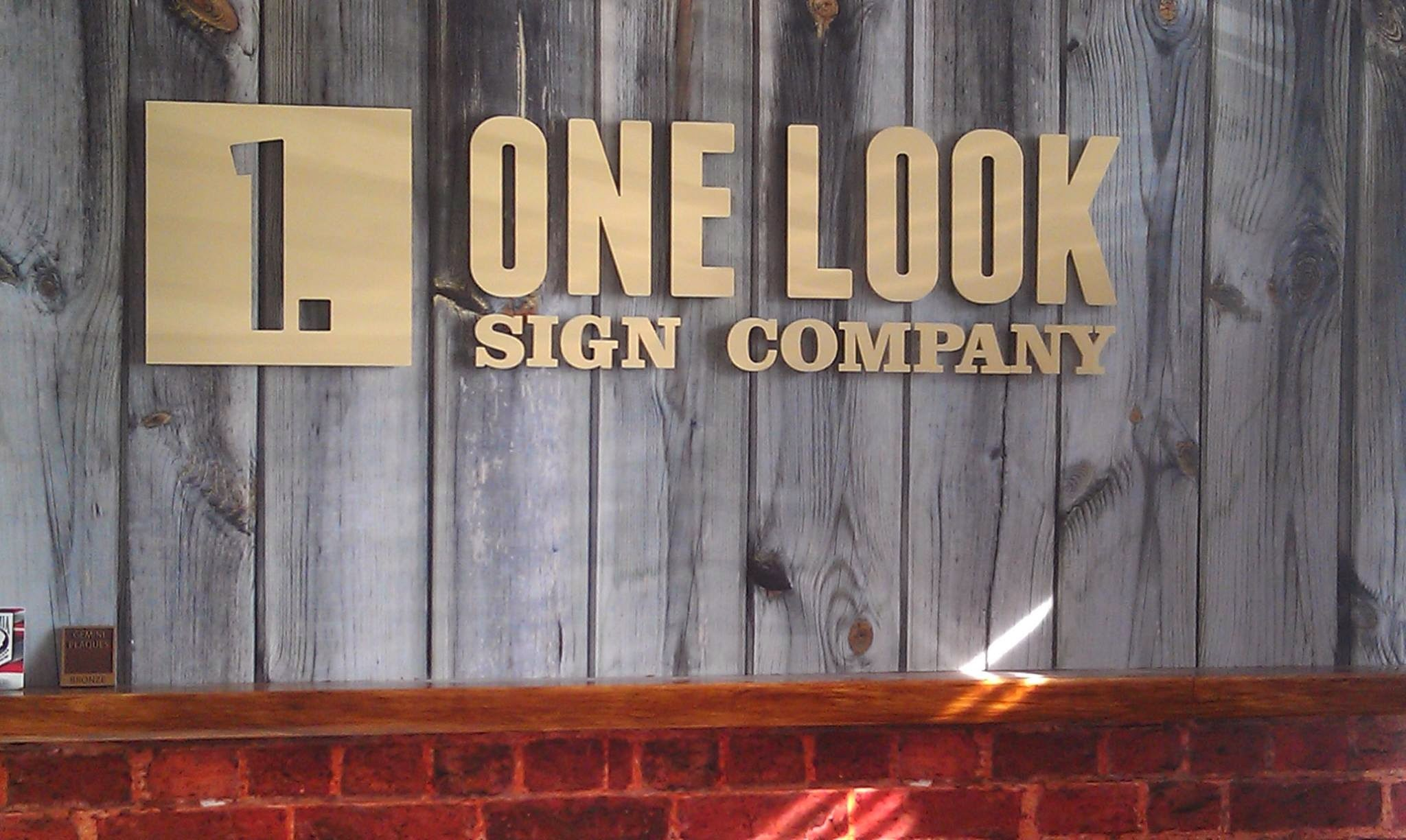 One Look Sign Cpmpany wall mural