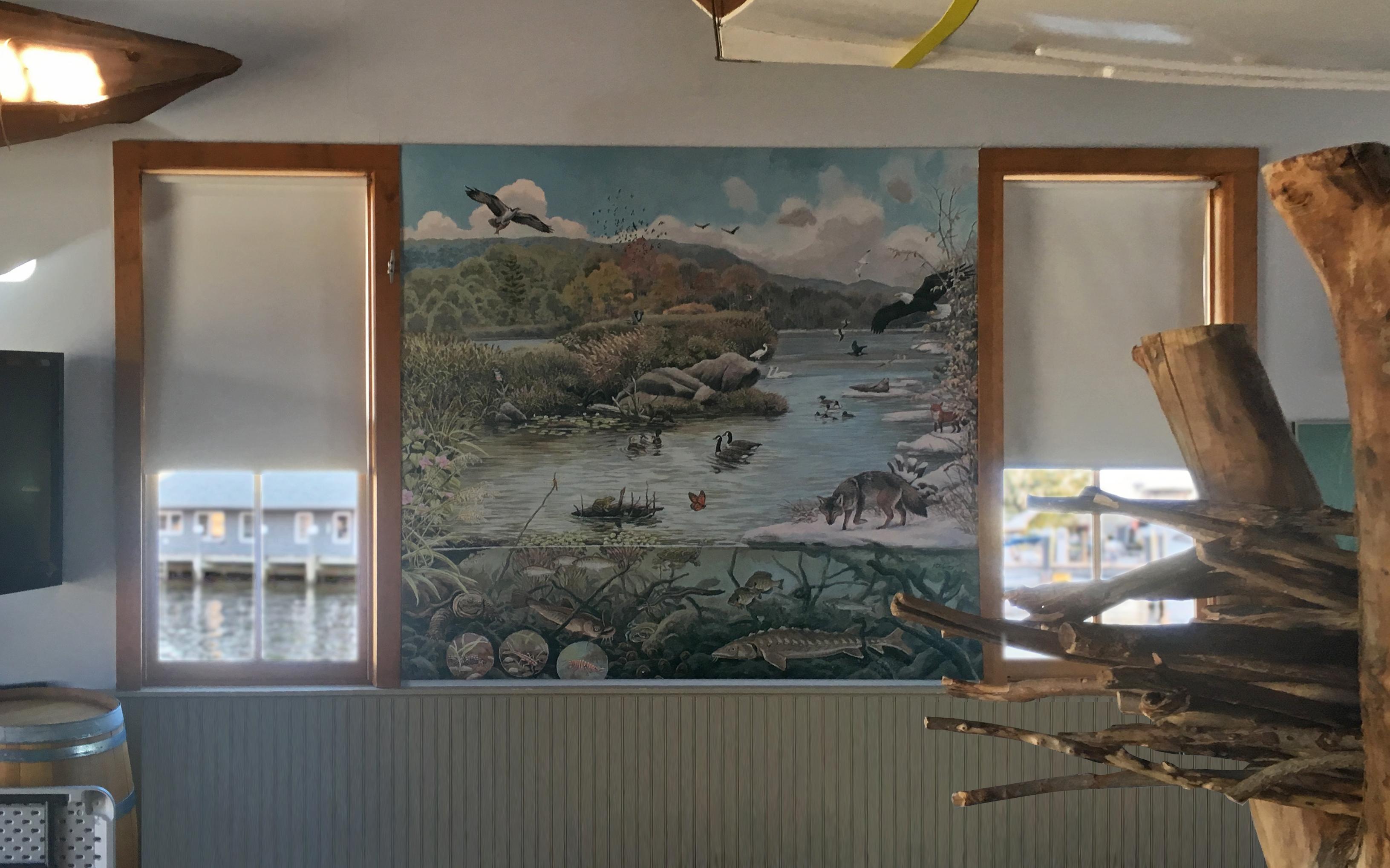 CT River Museum wall mural