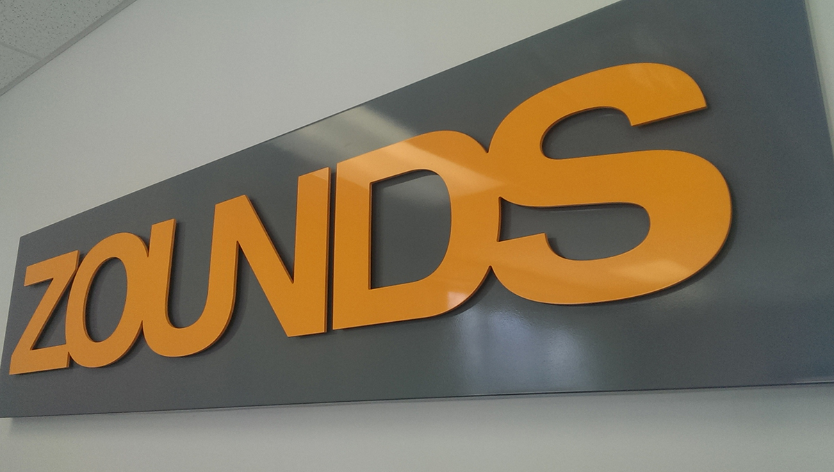 Zounds Interior Sign