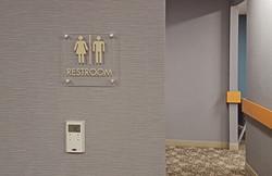 Ortho Partners Restroom Sign
