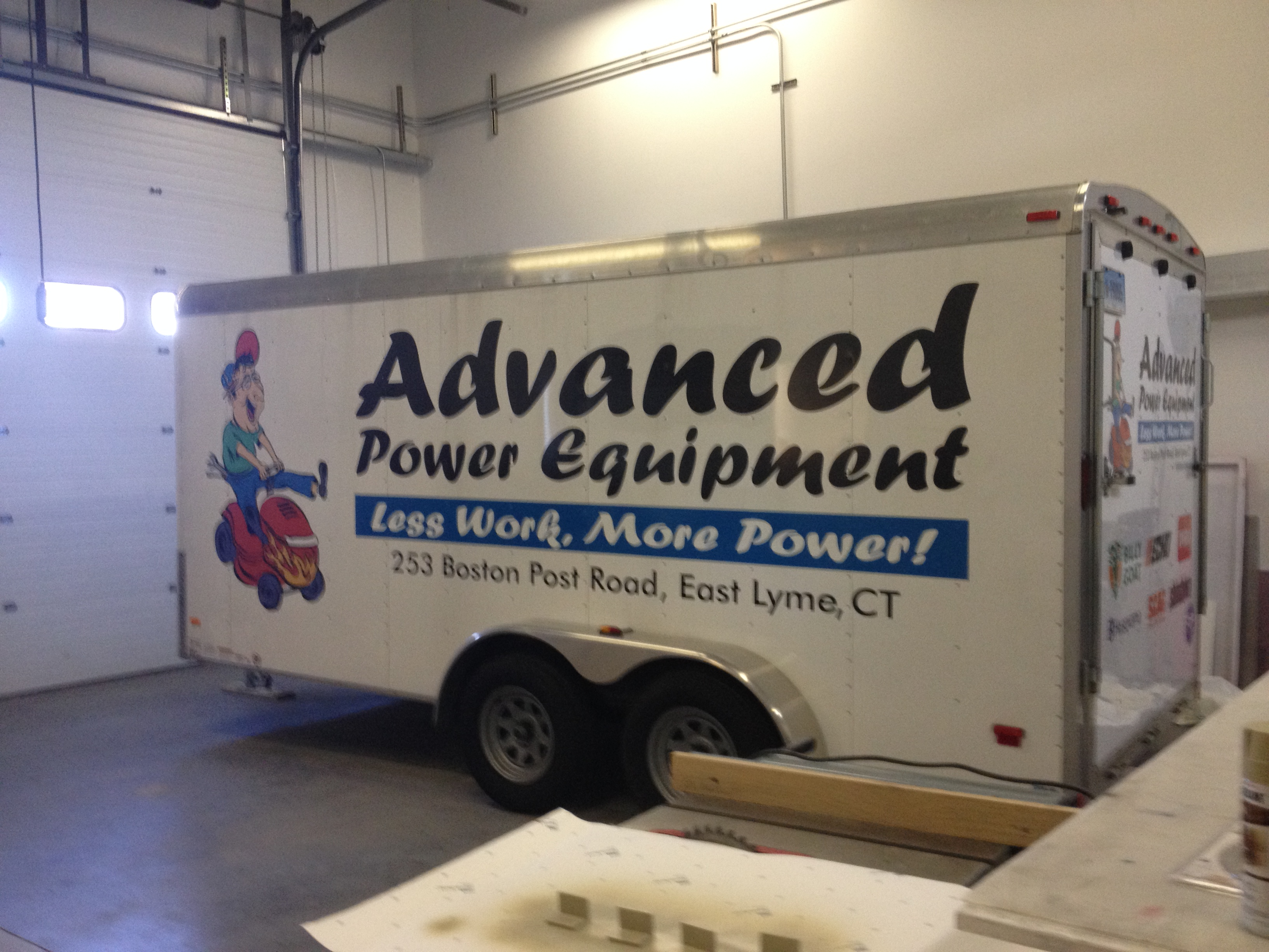 Advanced Improvements trailer lettering