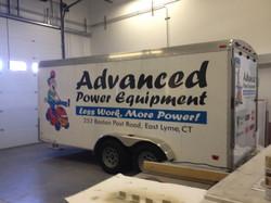 Advanced Improvements trailer lettering