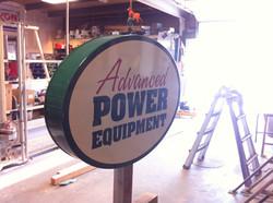 Advanced Power Equipment  sign lettering (3)