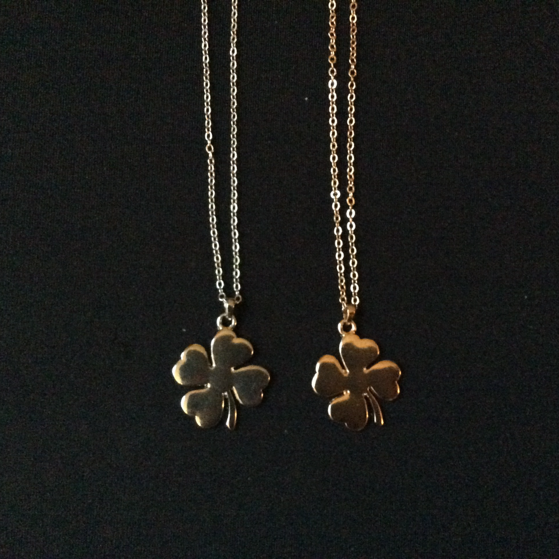 Silver and Gold Shammrock Necklaces