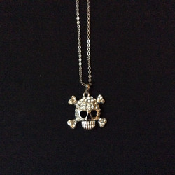 Silver Skull and Crossbone Necklace