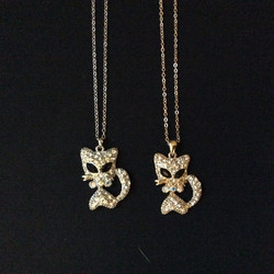 Silver and Gold Kitty Necklaces
