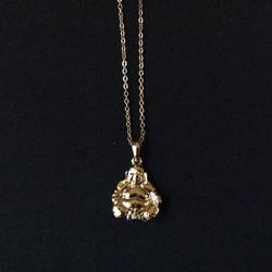 Gold Budda Charm Necklace