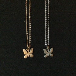 Gold and Silver Butterfly Necklaces