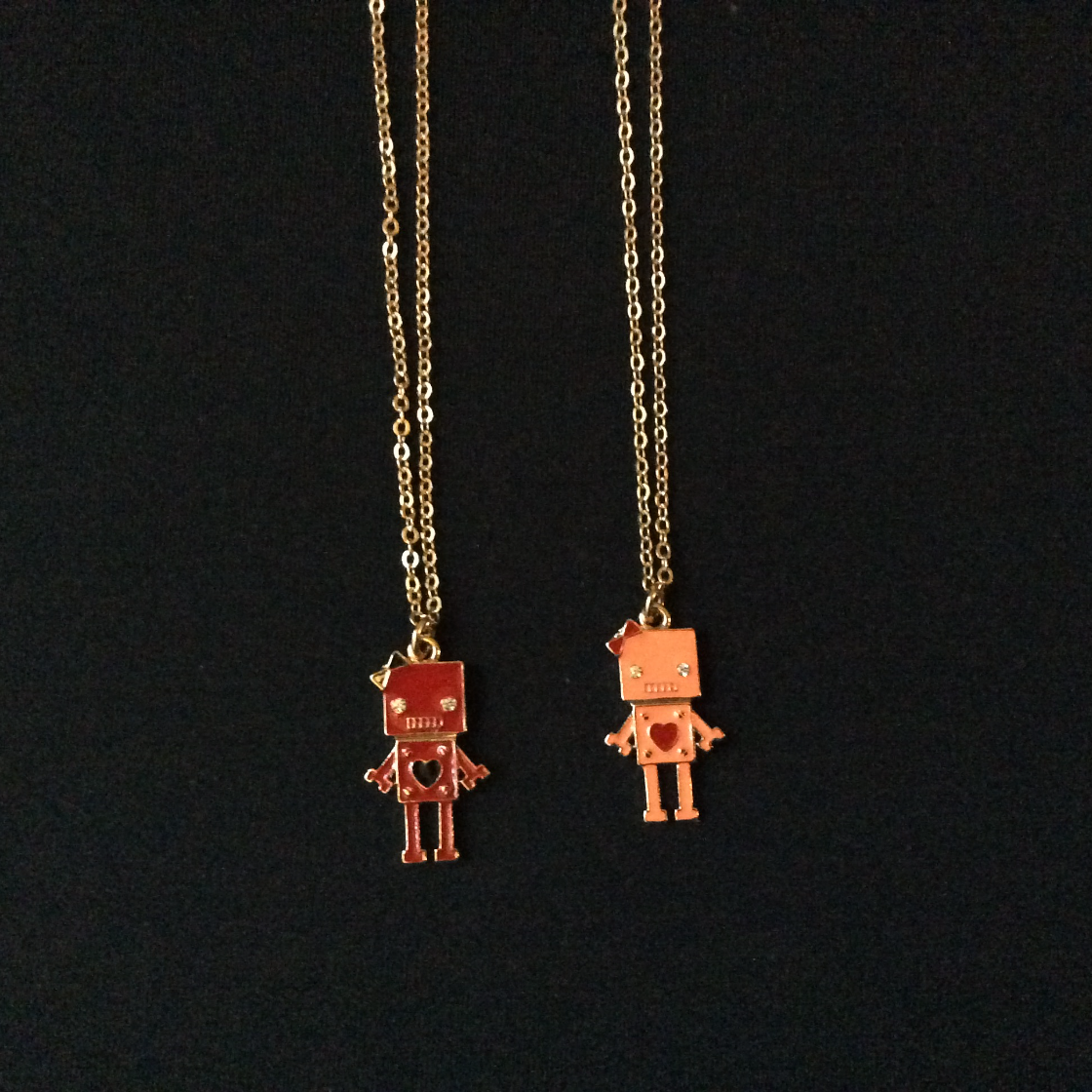 Colorful Robot Charm Necklaces