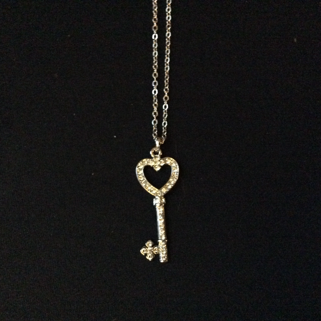 Heart Key Charm Necklace